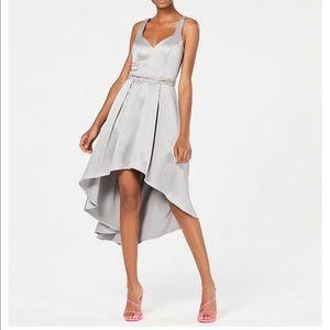 Silver hi low sequin hearts dress